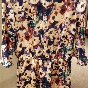 Ralph Lauren Floral-Print Silk Casual Dress